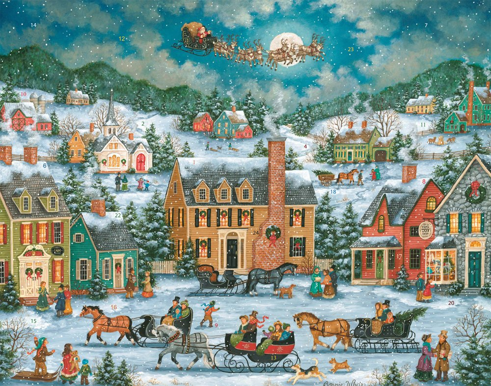 Christmas in Town Advent Calendar (Countdown to Christmas) Vermont Christmas Company