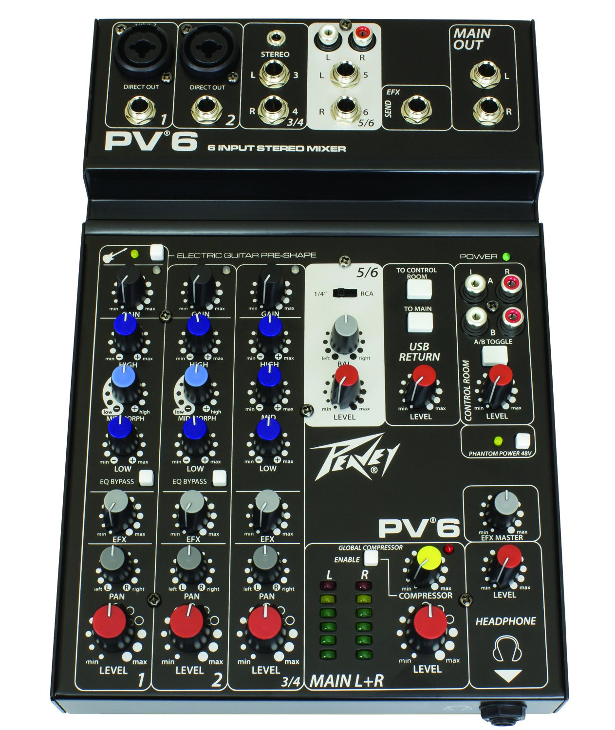 Peavey PV 6 Non-Powered Mixer Peavey Electronics 03612570