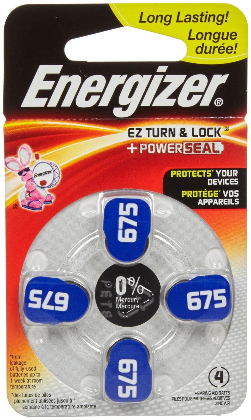 Energizer Size 675 Hearing Aid Battery - 4 ct by Energizer