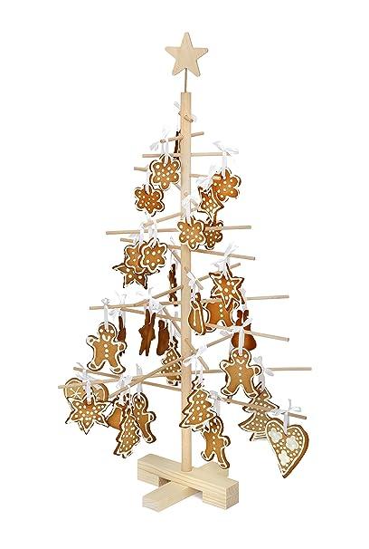Alberi Di Natale In Legno Amazon.Xmas3 S Albero Di Natale In Legno Naturale 48x48x75 Cm