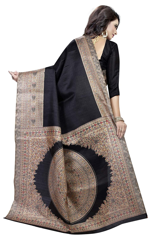 CRAFTSTRIBE Sari Seda Arte Fiesta /étnica Boda Bollywood Mujeres Sari