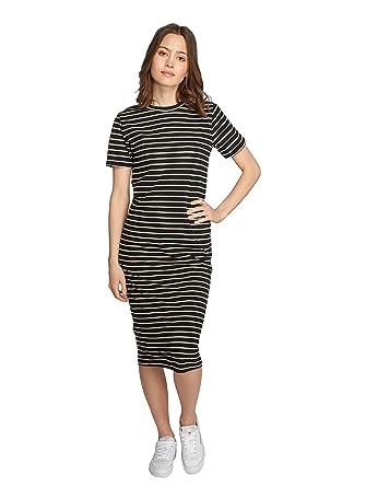 85c466aef64e JACQUELINE de YONG Maxikleid Strandkleid Jersey JDYCAMMA Dress 15151938  Black Stripes Gr.XS