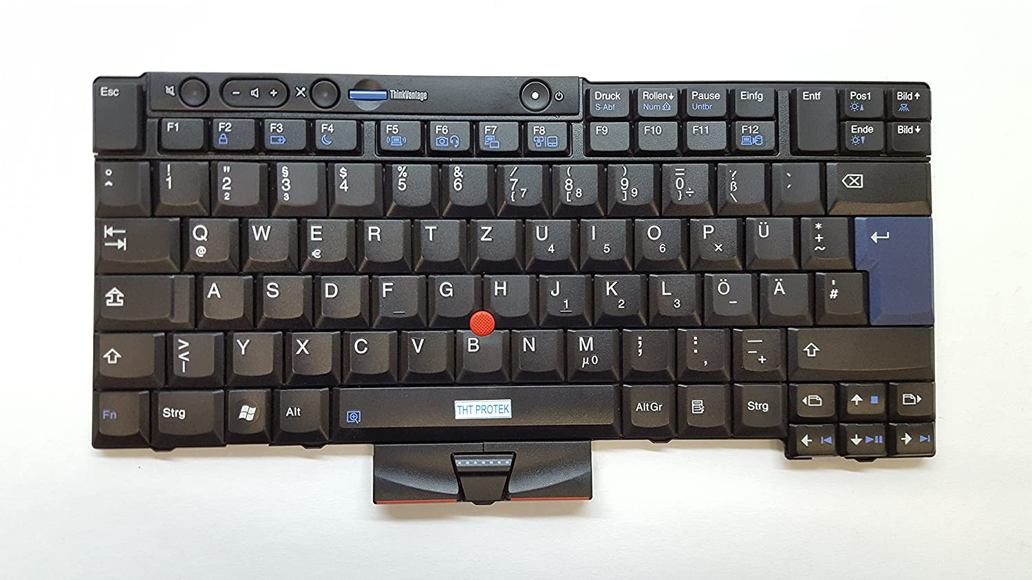 Black - Mouse - QWERTZ Keyboard, German (Gr Trackpoit for IBM Lenovo
