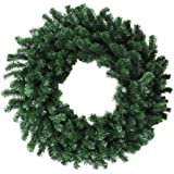 "Allstate 36"" Deluxe Windsor Pine Artificial Christmas Wreath - Unlit"