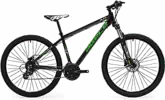 Agece Alfa-29-M4 Bicicleta de montaña, Hombre, Negro/Verde, XL ...