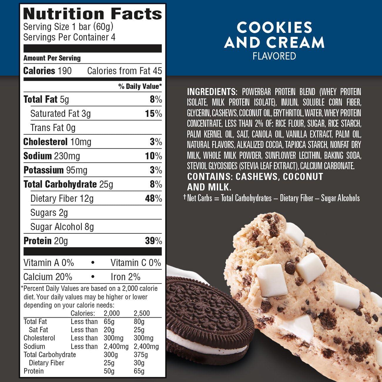 Powerbar-Energize Cookies Cream barres énergétiques Sport outdoornahrung