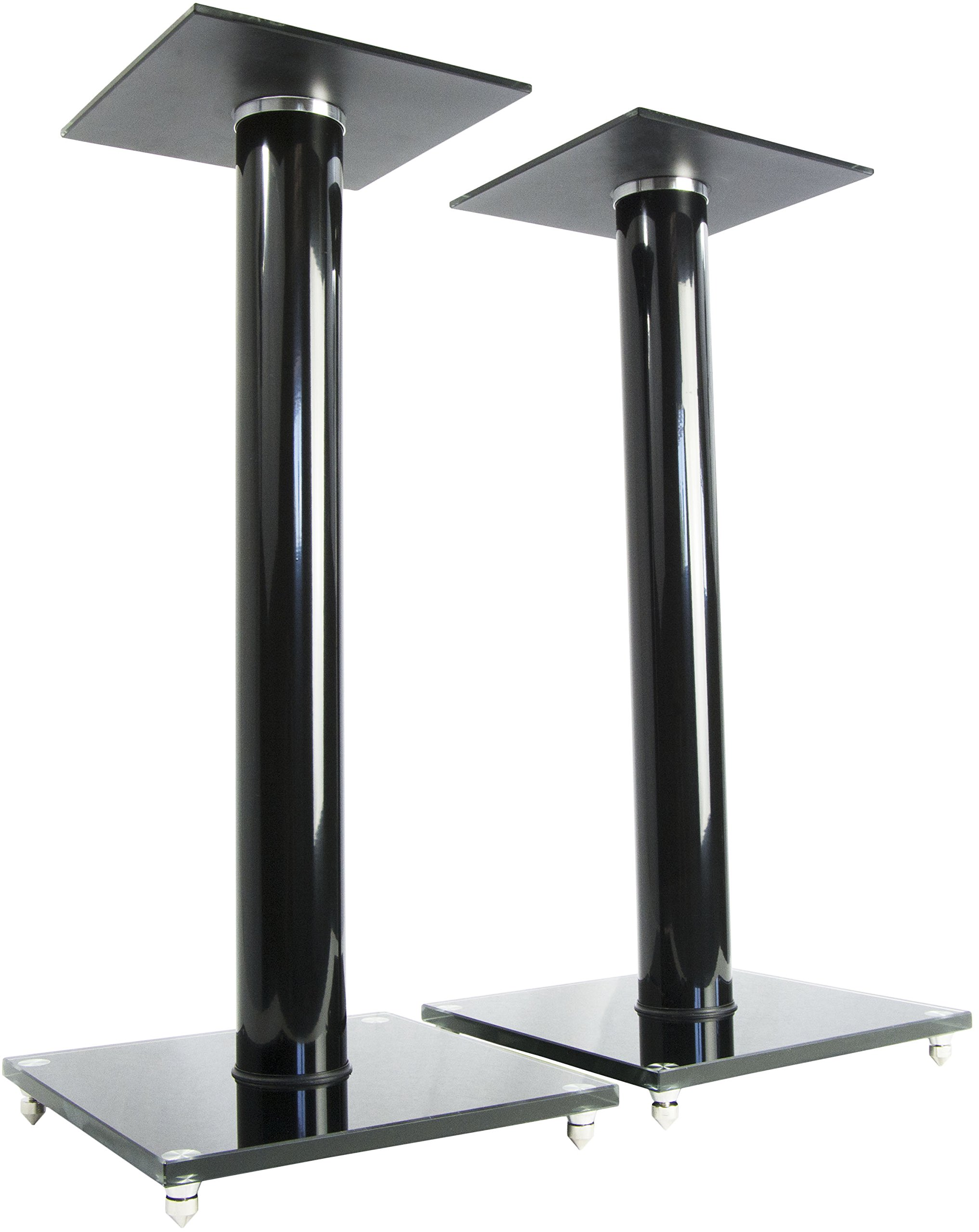 VIVO Premium Universal Floor Speaker Stands for Surround Sound & Book Shelf Speakers (STAND-SP02B)