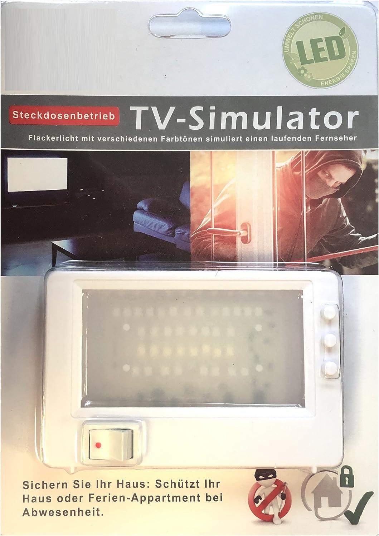 Simulateur de t/él/évision Faux TV Dummy Protection anti-vol Atrappe de t/él/évision TV LED