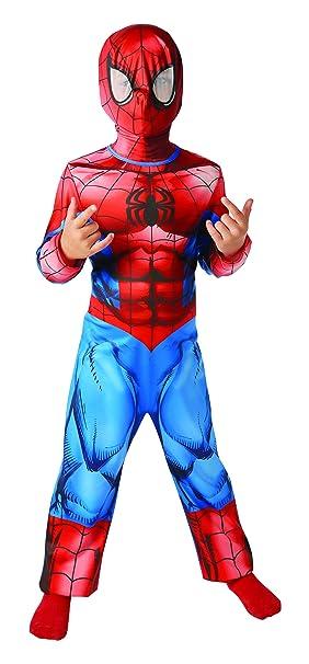 Rubies - Disfraz oficial de Spiderman para niños, talla L