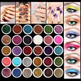 Eyeshadow&Nail Glitter LuckyFine 30Pcs/Set Colors Mixed Glitter Loose Powder Eyeshadow Eye Shadow Cosmetics Salon Random Color App 2.51.5cm(DH) for Gift