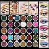 Fard à Paupières LuckyFine Eyeshadow Poudre Glitter Paillette Ombre Yeux pour 30 Couleurs
