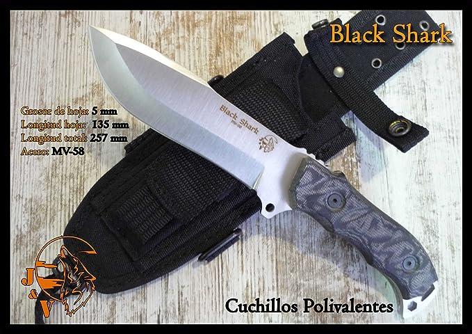 JV CDA Cuchillo Black Shark: Amazon.es: Deportes y aire libre