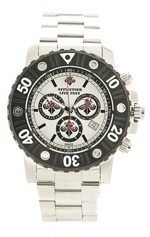 Affliction Herren Chronograph Uhr AF3612S-SLWH