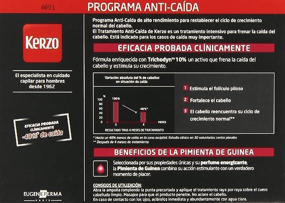 Kerzo Tratamiento Intensivo Anticaída en Ampollas - 14 Unidades: Amazon.es: Belleza