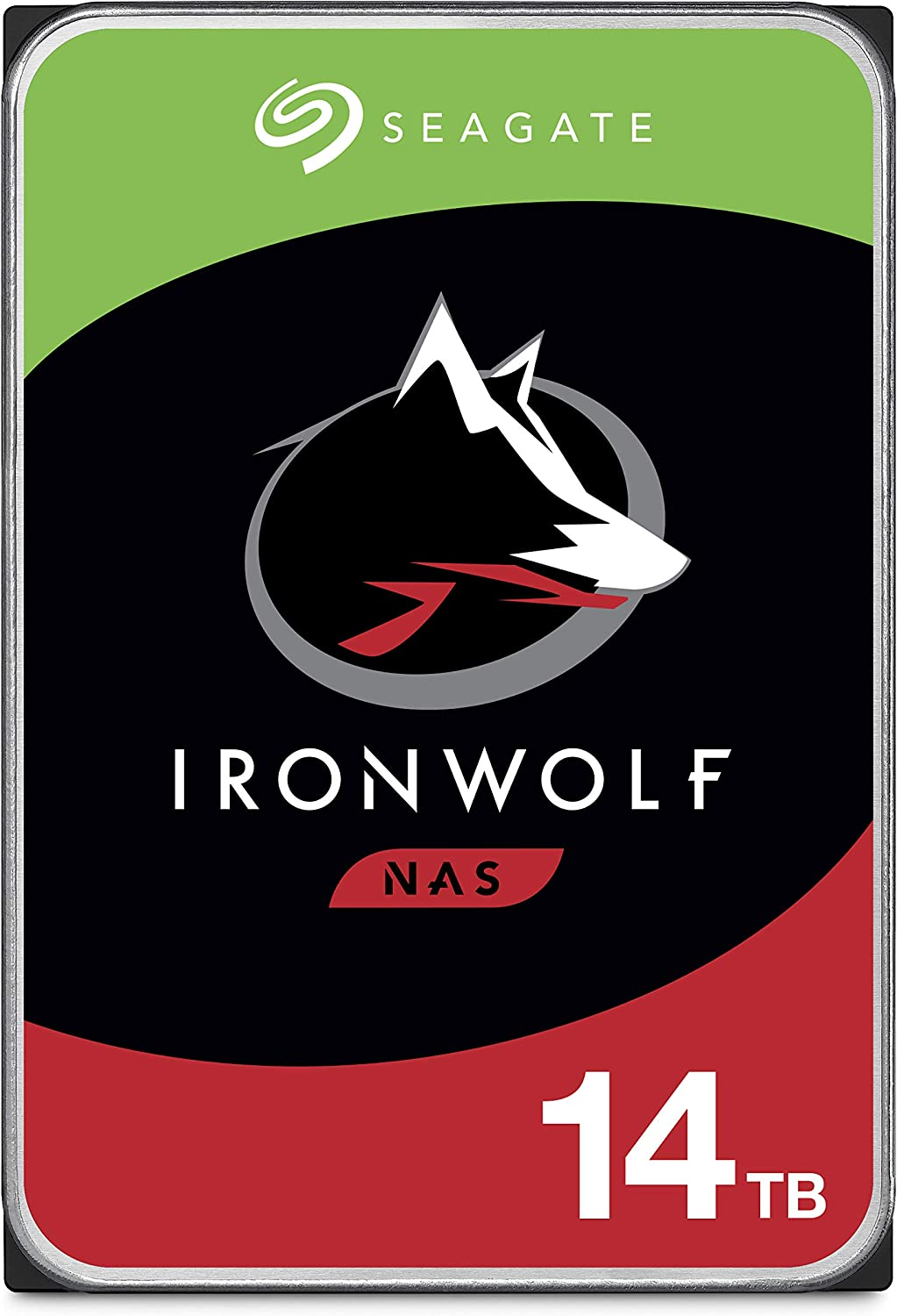 Seagate IronWolf 14TB NAS Internal Hard Drive HDD – CMR 3.5 Inch SATA 256MB Cache for RAID Network Attached Storage – Frustration Free Packaging (ST14000VN0008)