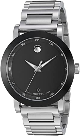 d74885d4c Amazon.com: Movado Men's 0606604 Museum Sport Stainless Steel Watch: Watches