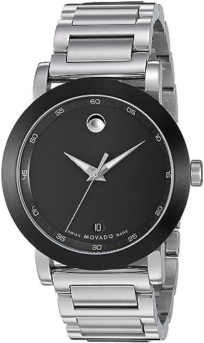 Movado 0606604 - Reloj, Correa de Acero Inoxidable Color Plateado: Amazon.es: Relojes