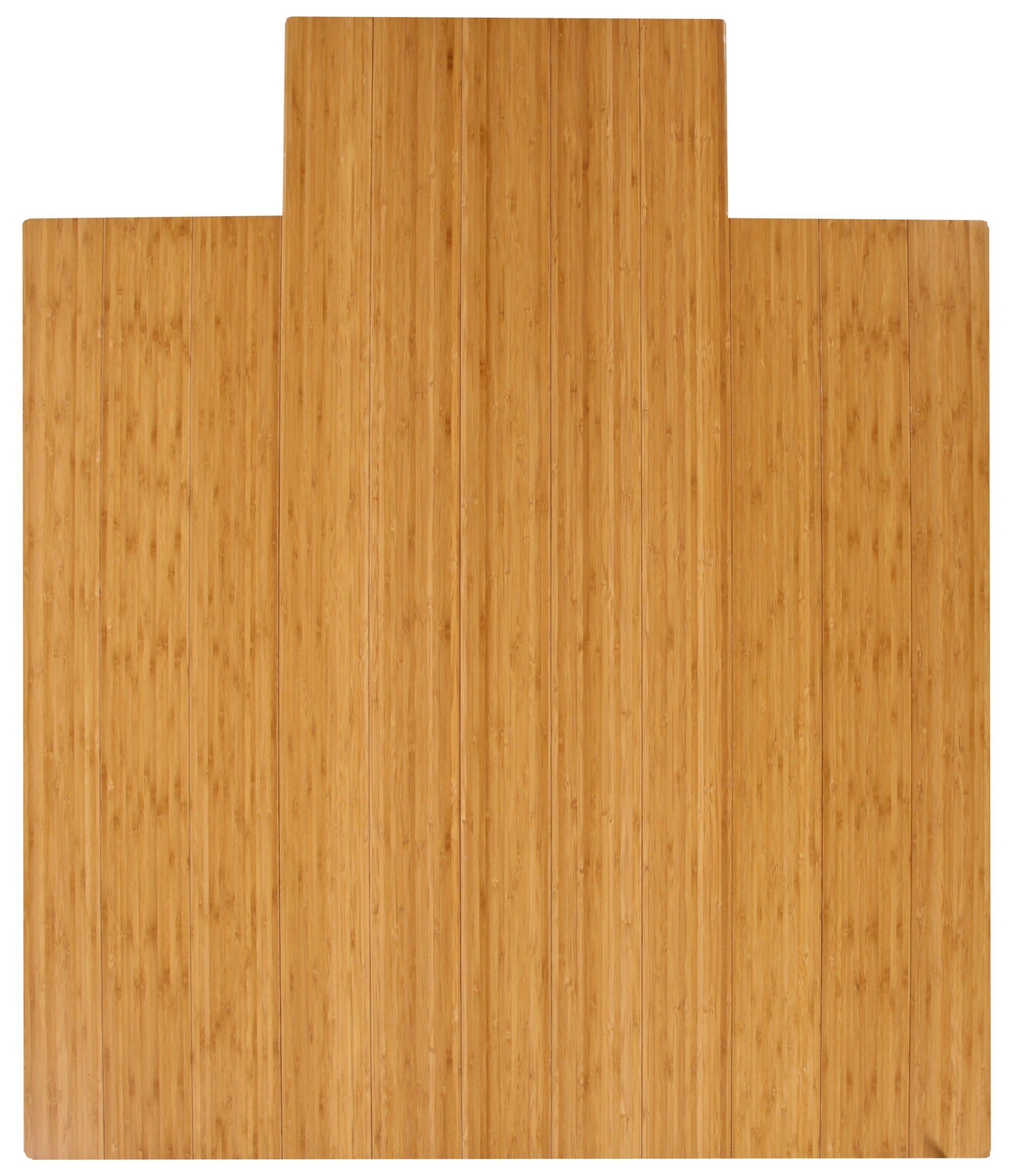 Anji Mountain AMB24005W Wood Chair Mat 44 x 52-Inch Natural
