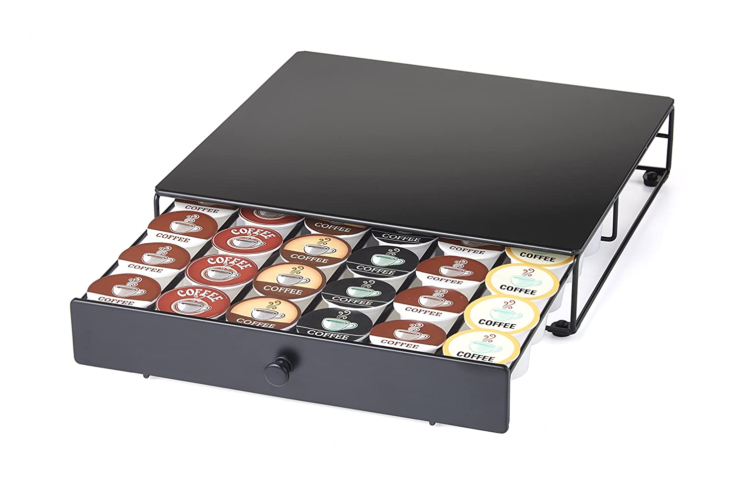 Storage Drawer for K-Cup Pods. Store Pods Underneath the Brewer to Save Space. Organizes 36 Pods
