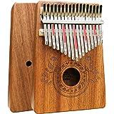 UNOKKI Kalimba 17 Keys Thumb Piano with Study Instruction and Tune Hammer, Portable Mbira Sanza African Wood Finger…