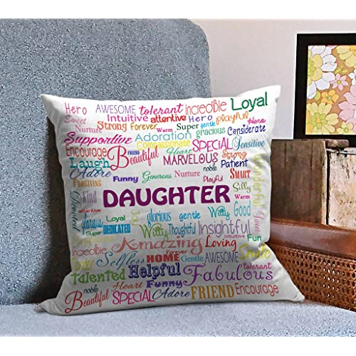 TIED RIBBONS Gift For Daughter Printed Cushion 12 Inch X Multicolor