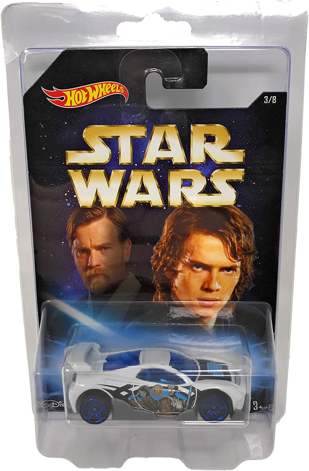 Nozlen Toys Bundle Hot Wheels Star Wars Master and Apprentice Exclusive 8 Car Set Plus 8 Protective Cases for Diecast