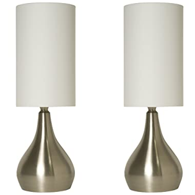 Light Accents Touch Table Lamp 18  Tall with 3-Stage Touch Dimmer (2 Pack)
