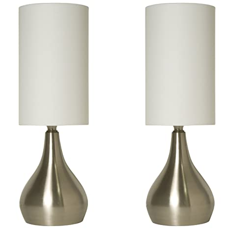 Light accents touch table lamp modern 18 inches tall touch dimmer 2 pack