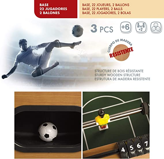 ColorBaby - Futbolín de Madera - 121 x 61 x 79 cm (85325): Amazon.es: Juguetes y juegos