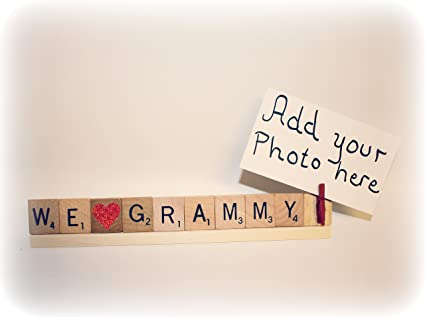 Amazon.com : We Love Grammy Photo Frame - Christmas Photo, Mothers ...