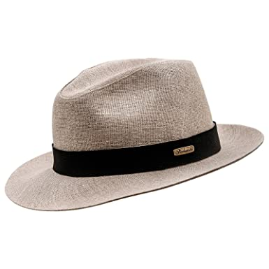 34df4ca768b Sterkowski Fedora  Corleone  Summer Linen Sewn Hat at Amazon Men s Clothing  store
