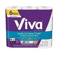 Viva Multi-Surface Cloth Choose-A-Sheet* Paper Towels, 6 Value Rolls