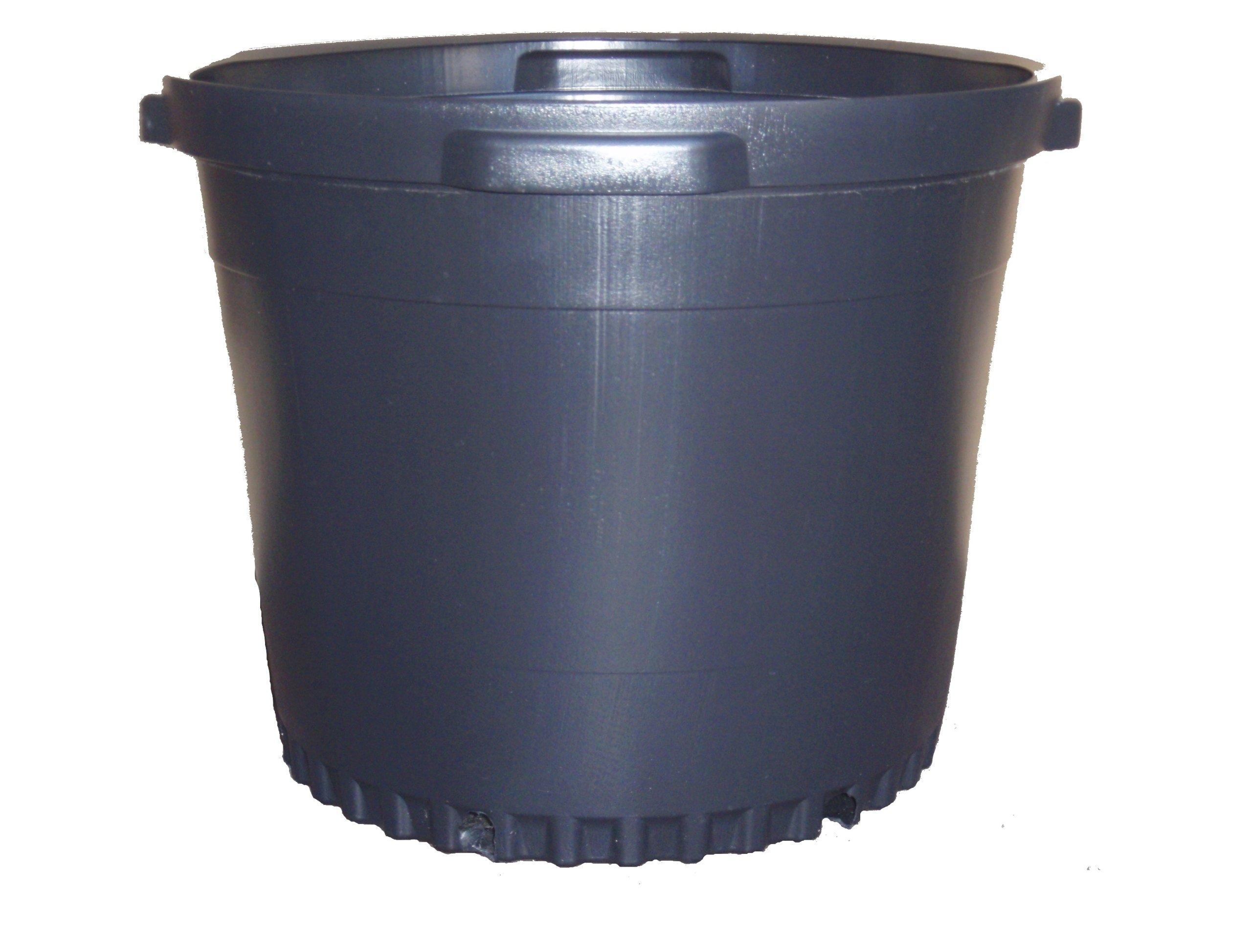 3 NEW Plastic Nursery 15 Gallon Trade POT ~ Actual Volume: 13.4 Gallons by Nursery Supplies