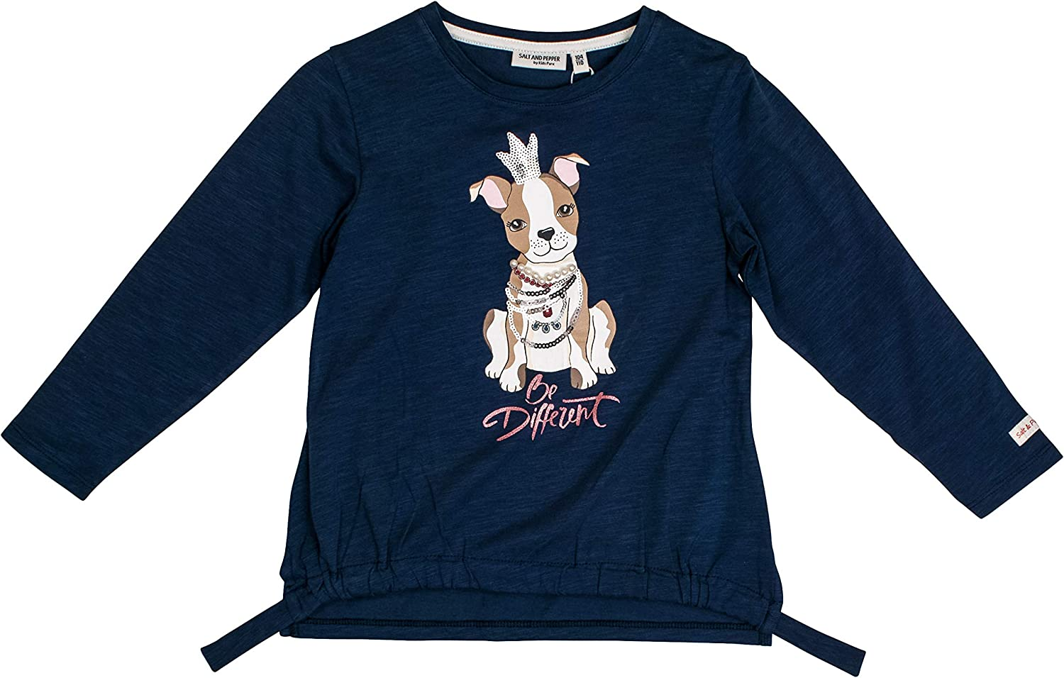 Salt /& Pepper Girls Cool /& Crazy Hund Mit Perlenkette Longsleeve T-Shirt