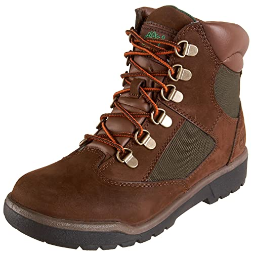 4c6b4a32e9d Timberland 6-Inch Leather and Fabric Field Boot Youth US 4 Brown ...