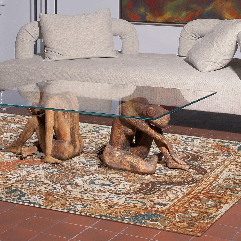 Liora Manne MNA45805748 Marina Tribal Stripe Black Indoor//Outdoor Rug 33 X 411 Blue