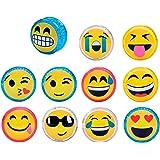 DISOK - Yo Yo Emoticonos con LUZ (Precio Unitario)- Ideal para Regalos Cumpleaños, Comuniones. Recuerdos y Detalles para niños, colegios Primera Comunión yoyos, yo yos baratos Emoji, Emoticonos