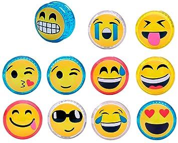 DISOK - Yo Yo Emoticonos con LUZ (Precio Unitario) Cumpleaños, Comuniones. Recuerdos y Detalles para niños, colegios Primera Comunión yoyos, yo yos ...