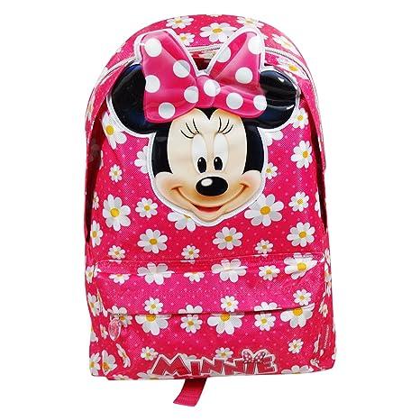 Disney Minnie Mouse Flower Mochila Bolso Escolar Tiempo Libre Ninos