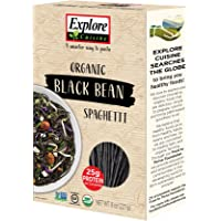 Explore Cuisine Organic Black Bean Spaghetti (6 Pack) - 8 oz - High Protein, Gluten Free Pasta, Easy to Make - USDA Certified Organic, Vegan, Kosher, Non GMO - 24 Total Servings