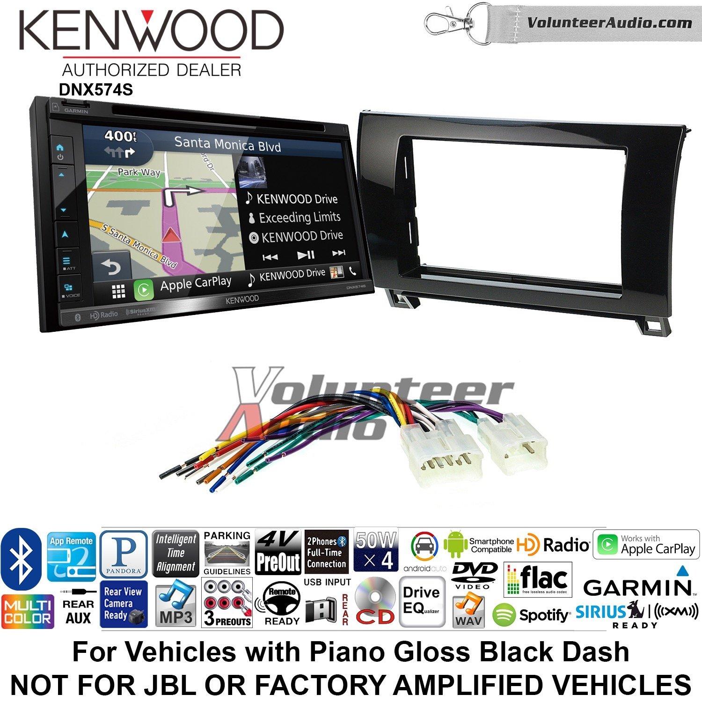 Kenwood dnx574sダブルDINラジオインストールキットwith GPSナビゲーションApple CarPlay Android自動Fits 2007 – 2013 Non Amplifiedトヨタタンドラ、2008 – 2013年Sequoia (メタリックグレー) B07C299MSK
