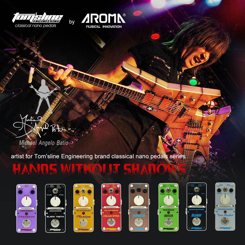Pedal de efecto de distorsi/ón Tomsline Engineering PLEXION APN-3 recreaci/ón de 70-80 Marshall amplificador de tono con 2 modos de pedal de guitarra brillante y normal