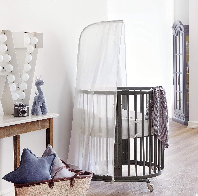 Farbe: White Macht aus dem Sleepi Bett ein sch/önes Himmelbett Stokke Sleepi Himmelstange Als Zubeh/ör zum Sleepi Himmel
