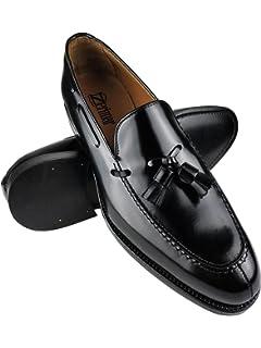 Zerimar Zapatos Castellanos Hombre | Mocasin Antifaz Hombre | Mocasin con Borlas para…