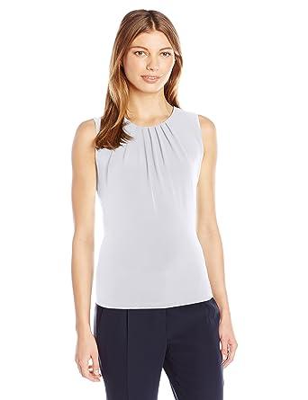 1bce76c7405 Calvin Klein Women's Solid Pleat Neck Sleeveless Cami at Amazon Women's  Clothing store: