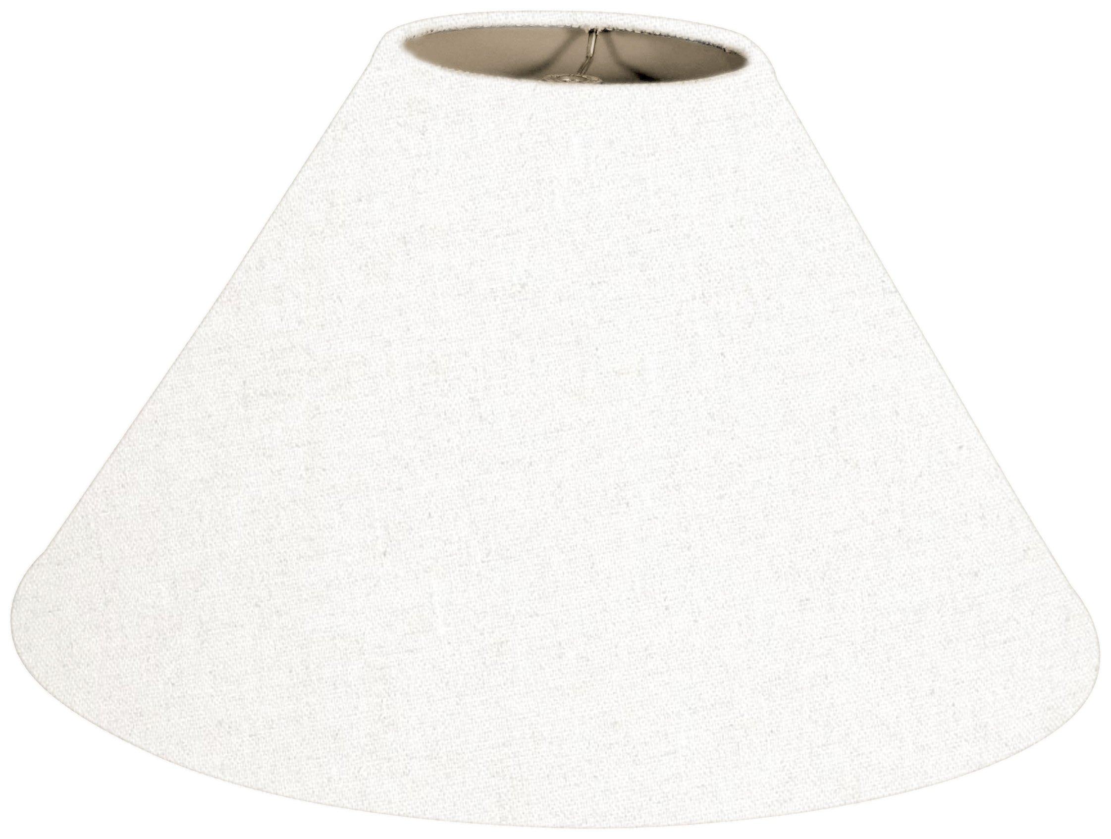 Royal Designs Coolie Empire Hardback Lamp Shade, Linen White, 6 x 18 x 11.5