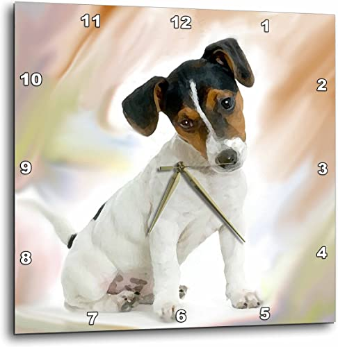 3dRose Jack Russell Terrier Wall Clock, 10 by 10-Inch