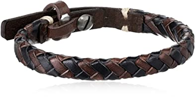 9516866dd Amazon.com: Fossil Men's Braided Bracelet: Mens Bracelets Leather ...