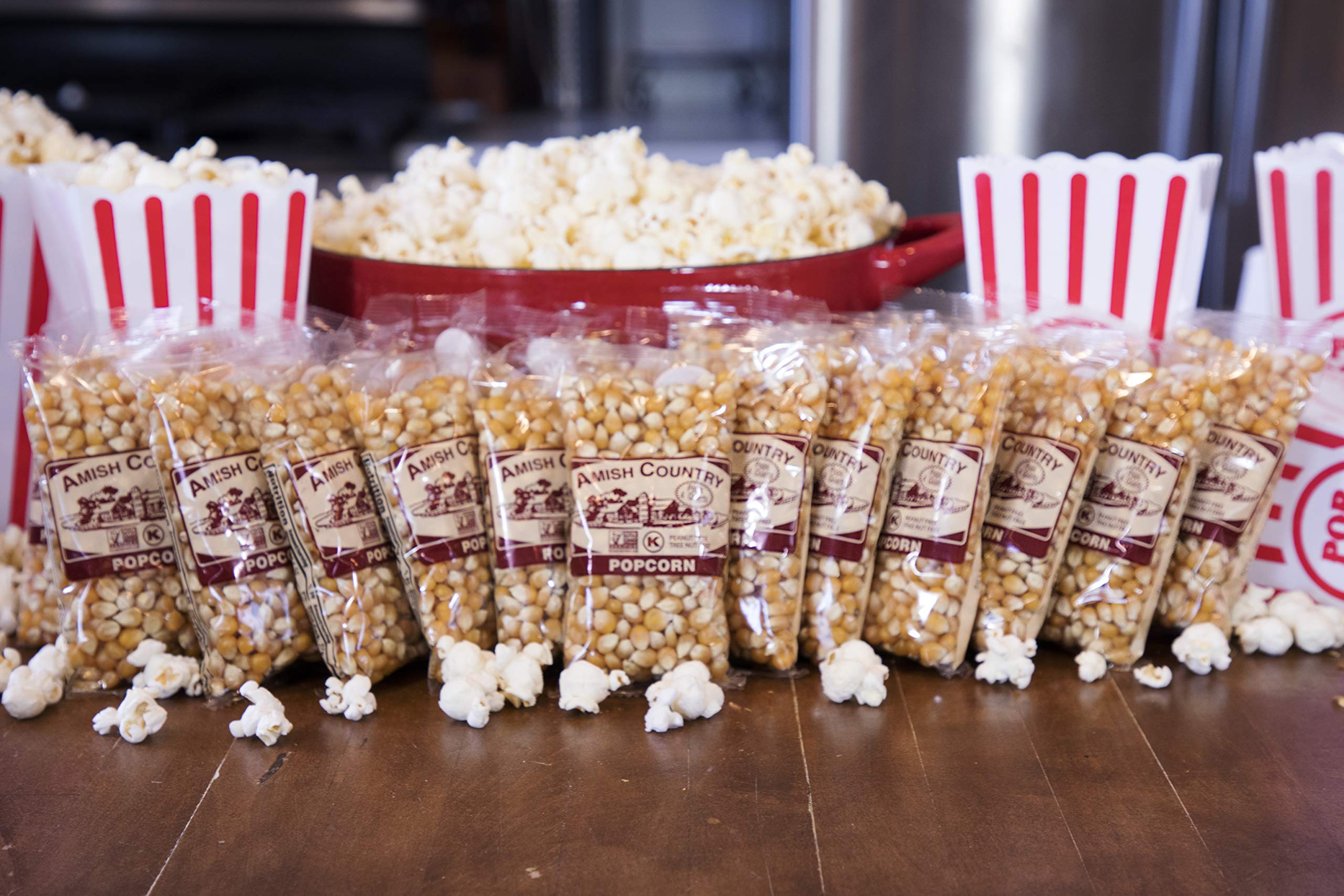 Amish Country Popcorn - Mushroom Popcorn (4 Ounce - 24 Pack) Bags - Old Fashioned, Non GMO, and Gluten Free - with Recipe Guide by Amish Country Popcorn (Image #3)