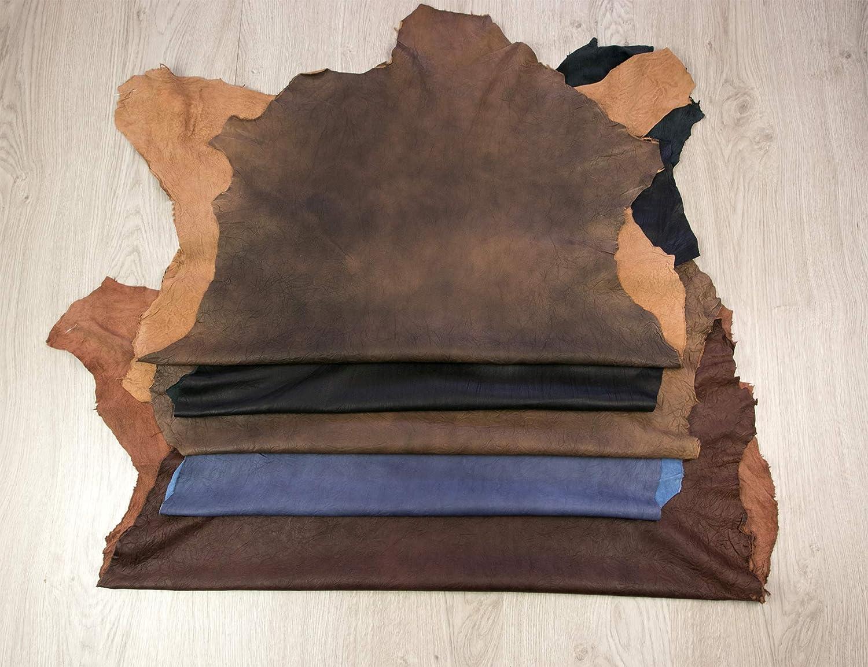 Retales de Cuero Color: gris Medidas: 80x80 cm Pieles Cuero Natural Piel para Artesanos Zerimar Piel Cuero Retal Cuero Retales de Piel para Manualidades